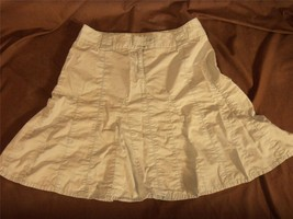 WX6145 womens Ann Taylor Loft A line skirt pastel light blue panel stitching 6 - $12.60