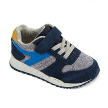Cat & Jack Navy Yellow Boys Toddler Chase Jogger Sneakers Shoes Hook & Loop NWT image 1