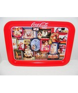VINTAGE 1998 COCA COLA MULTIPLE ADVERTISING IMAGES METAL TRAY GUC - $24.99