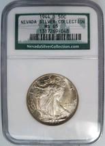 1944 D Walking Liberty Half Dollar NGC MS 65 Nevada Silver Collection Ho... - $164.99