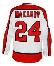 Any Name Number CCCP Russia Retro Hockey Jersey White Makarov #24 Any Size image 2