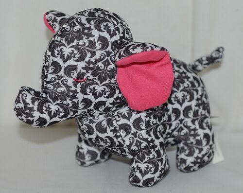 Baby Ganz Brand BG3192 Pink And Black Ooh La La Plush Filigree Elephant