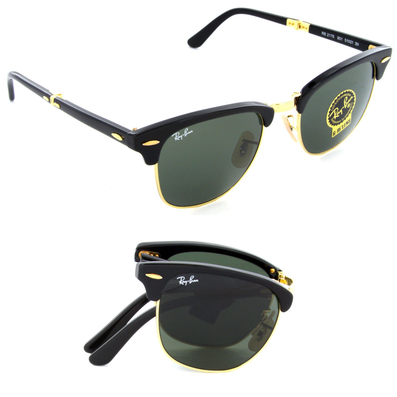 Nuevo Ray-Ban Plegable Clubmaster RB2176 901 and 50 similar items a7ac0de8bc