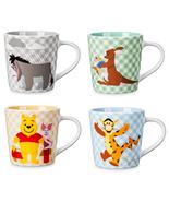 Disney Store Winnie the Pooh Eeyore Tigger Piglet Kanga Roo Coffee Mug 2... - $92.43