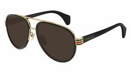 NEW Gucci Man's GG0447S Aviator Sunglasses 58mm Authentic  - $255.00