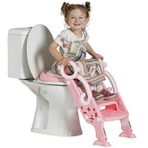 Toddler Toilet Training Seat with Non-Slip Ladder: Foldable Padded Potty... - $39.60