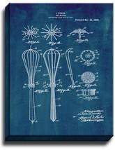 Egg Beater Patent Print Midnight Blue on Canvas - $39.95+