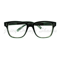 Clear Lens Eyeglasses Square Horn Rimmed Nerdy Fashion Glasses - $7.95
