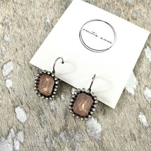 Crystal Antique Fashion Sparkle Geometric Dangle Earrings Crew Styled Pink Gg - $27.16