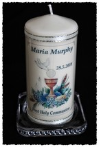 """8"""" Personalised 1st Holy Communion Candle Gift Boy or Girl 