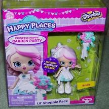 Shopkins Happy Places BRIDIE Princess Puppy Garden Party Lil' Shopper Pk... - $10.88