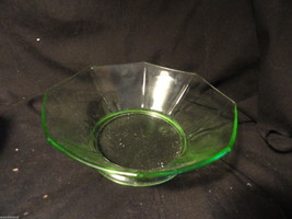 Green Depression Glass Octagon Bowl - $19.99