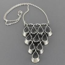 Vintage Scandinavian Erik Granit Finland Sterling Silver Modernist Neckl... - $119.99