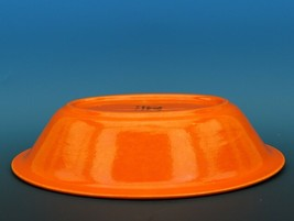 Vintage Franciscan El Patio Flame Orange / Uranium Red Oval Bowl 30s F Logo image 2