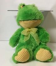 "Sitting Cuddle Yellow Green Frog Plush Stuffed Animal 11"" - $8.91"