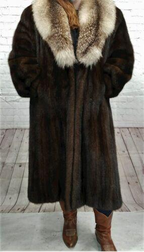 Vintage Authentic Christian Dior Fourrure Brown Fur Coat Size Unknown