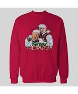 TRUMP AND PUTIN MERRY CHRISTMAS SWEATSHIRT *OLDSKOOL* Men SWEATER *FULL ... - $34.64+