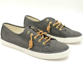 Sperry Top Sider Women Casual Low Top Sneakers Size US 11M Navy Blue Canvas - $37.10