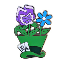 Alice in Wonderland Disney Lapel Pin: Mad Hatter Potted Plant - $21.90