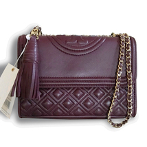 New Tory Burch Fleming Convertible Shoulder Small Shoulder Bag Kir Royale - $310.00