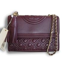 New Tory Burch Fleming Convertible Shoulder Small Shoulder Bag Kir Royale - $310.00