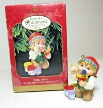 1999 Arctic Artist Membership Ornament Hallmark Collectors Club Christmas Elf - $7.69