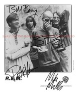 REM BAND SIGNED AUTOGRAPHED 8x10 RP PROMO PHOTO ALL 4 R.E.M. - €17,18 EUR