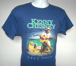 Mens 2012 Kenny Chesney Brothers of the Sun Tour T Shirt Large blue - $21.73