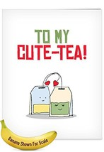 J5659IVDG Jumbo Valentine's Day Greeting Card: Yummy Puns, With Envelope Giant S