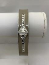 Lia Sophia Tope Enamel, Silver Toned & Rhinestone Bangle Stretch Bracelet (1862) - $7.50