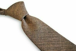 Frederick Thomas mens linen tie in coffee brown FT3116 - $16.20