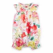 Ralph Lauren Baby Girls Floral Cotton Shortall, 9 Months, Pink Multi - $32.50