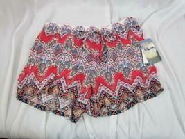 NWT Bebop Be You Be Free Multi Print & Color Soft Shorts L Elastic Waist... - $14.24