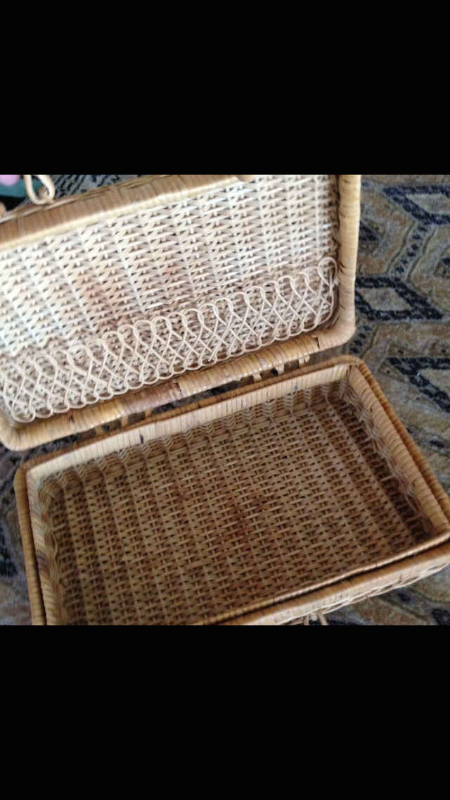 """Basket With Lid 12"""" x 7"""" - $39.99"""