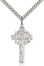 IHS 1 1/4 x 5/8 Inch Sterling Silver Crucifix Cross Necklace Pendant - $69.99