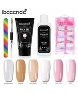 Ibcccndc® Poly Gel Kit Pink Gel Varnish Polish Polygel Nail Builder Salo... - $24.00