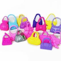 10Pcs Mixed Mini Shoulder Bag Handbag Girl Kid Toy Accessories for Barbi... - $10.99