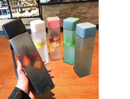 Plastic Cup Square Transparent Matte 500 ml for cold water with... - $3.04