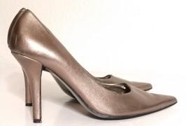 Women's Nine West Bronze Stiletto Heels Size 7M - $29.69