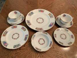 Rare Rosenthal Floral Pattern Fine China Dinnerware Service for 6 (48 pi... - $292.05