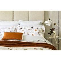 Christy Snowflower 2-pc. Standard Pillow Sham Set 100%COTTON 300TC Flowral New. - $44.70
