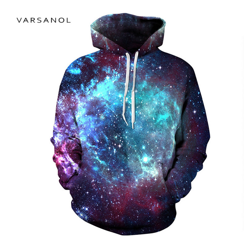 3d Print Sweatshirts Hooded Men/Women Hoodies With Hat Galaxy Space Star Autumn