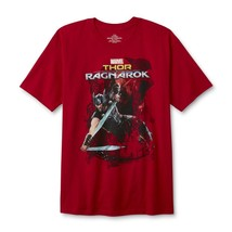 Marvel Thor Ragnarok Young Men's Red Graphic T-Shirt Free Shipping - $15.90