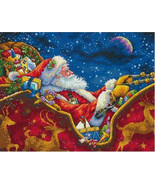 Dimensions Santa's Midnight Ride Counted Cross Stitch Kit, 14x11in, 18 c... - $32.99