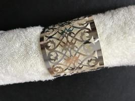 80pcs Laser cut Table Decoration Napkin Rings,Metallic Paper Silver Napkin Ring - $27.20