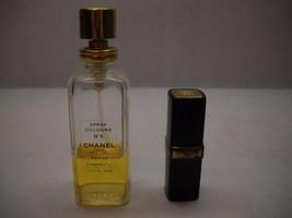 Chanel No. 5 Vintage 1 Purse Spray Bottle Black Gold Refill 1 Bottle 1.7FL Used - $91.41