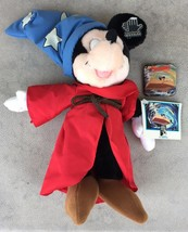"""Vintage Disney Mickey Mouse Fantasia Sorcerer 13"""" Plush by Applause With... - $14.95"""