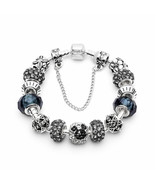 Silver Love Crystal Charm DIY pan Bracelets For Women Jewelry Making fe... - $14.87