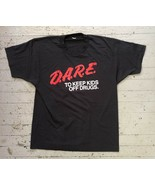 Black D.A.R.E. T Shirt Mens - $15.99+