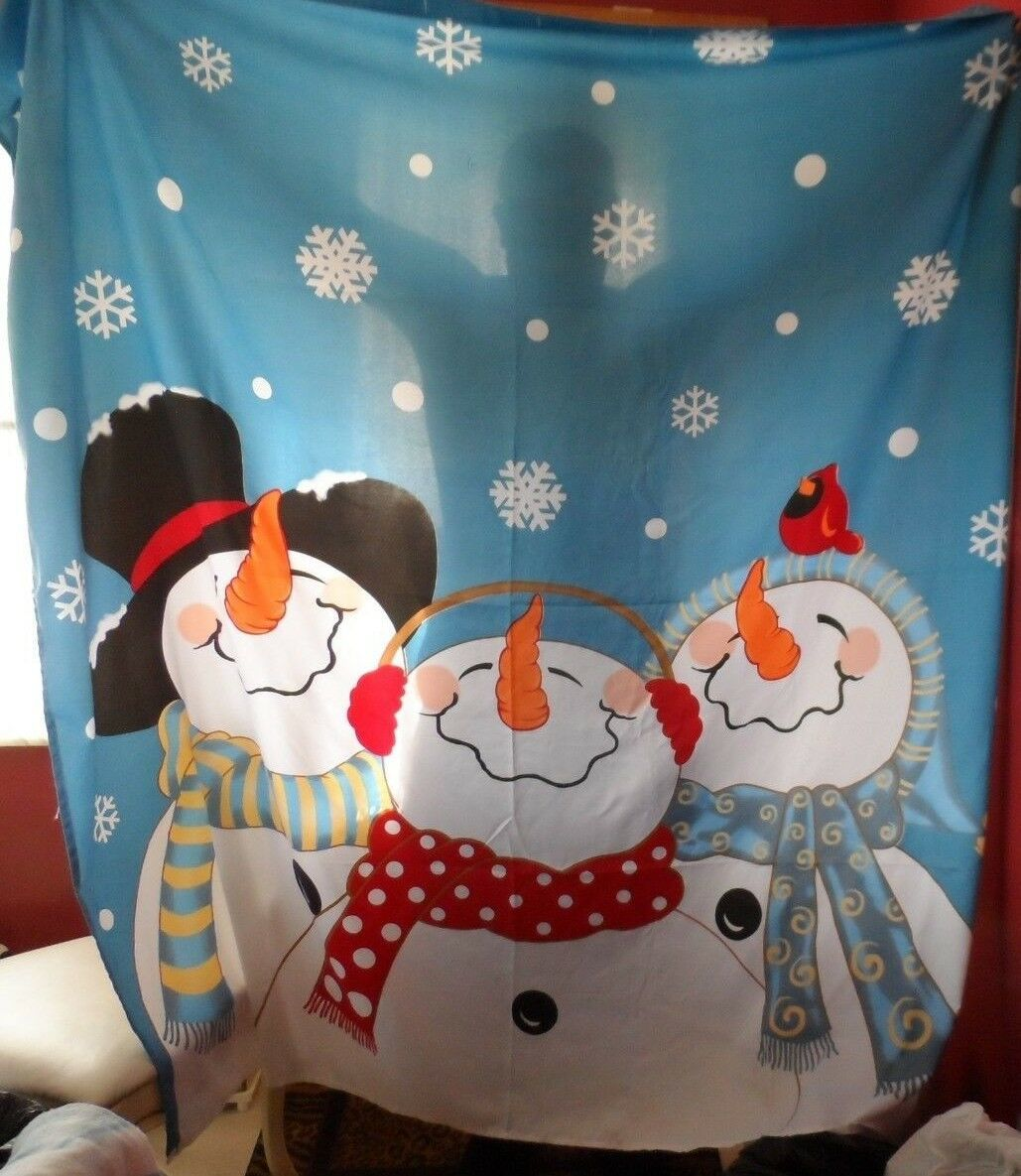 Christmas winter snowman decorative shower curtain and  towels
